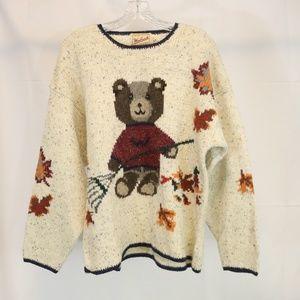 Woolrich Women's L Sweater Teddy Bear